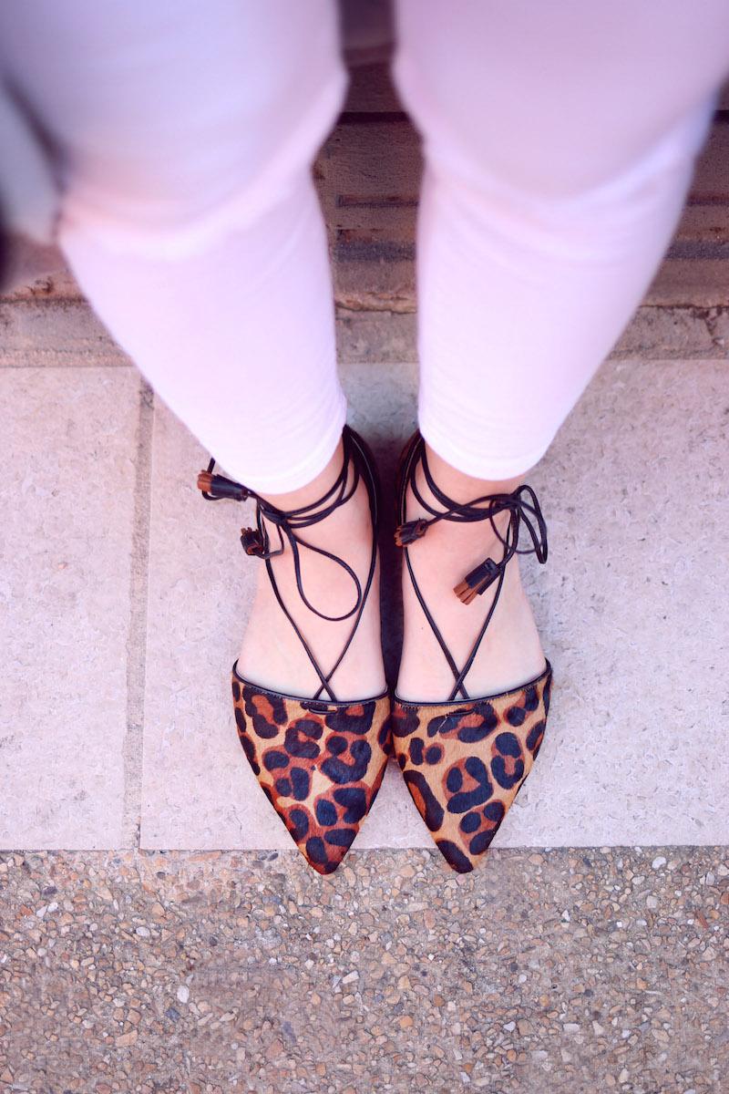 blog mode ballerines lacées léopard