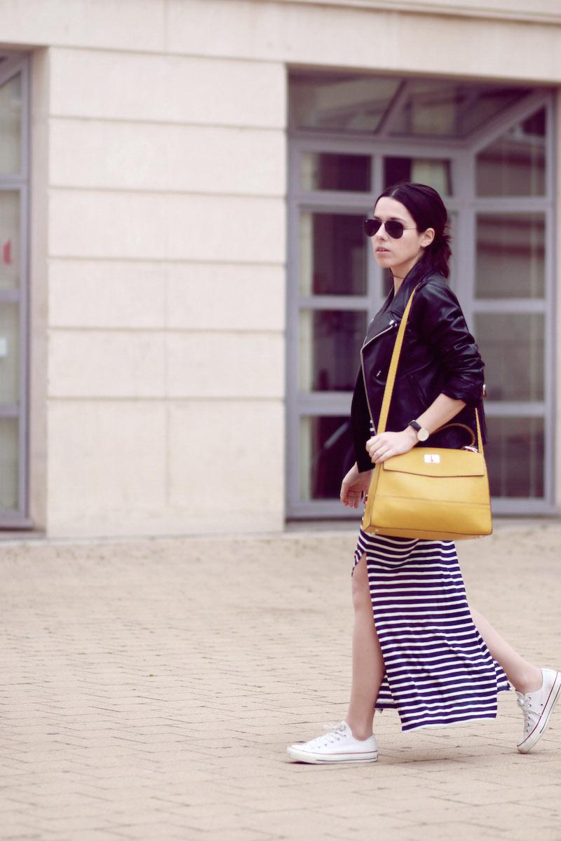 blog mode robe longue rayée