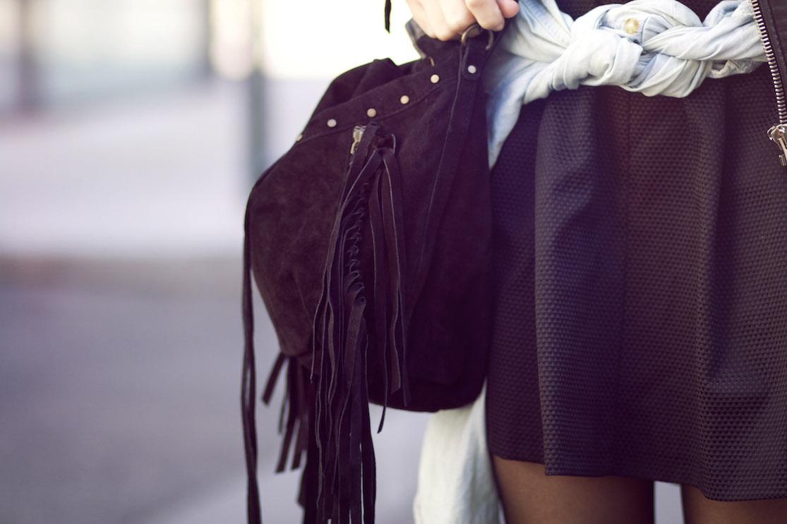 blog mode sac daim noir franges