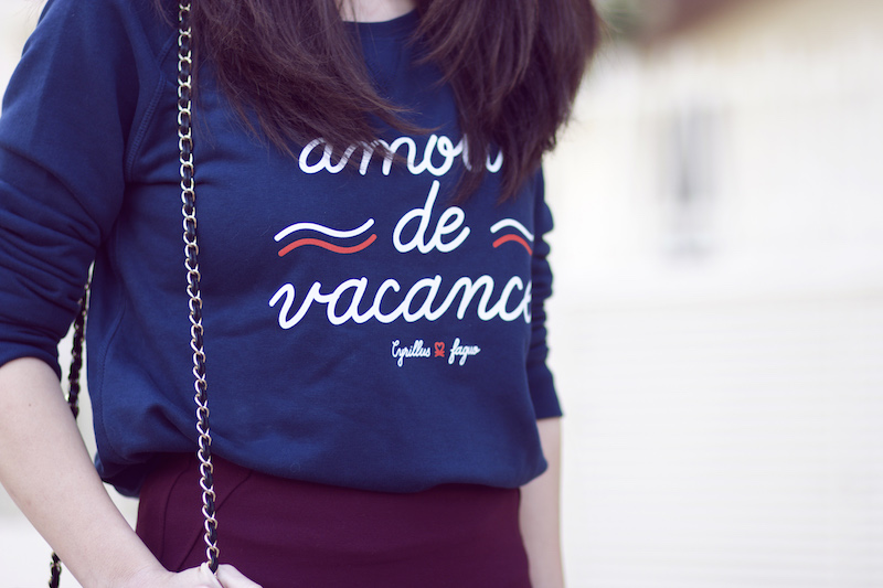blog mode sweat bleu marine