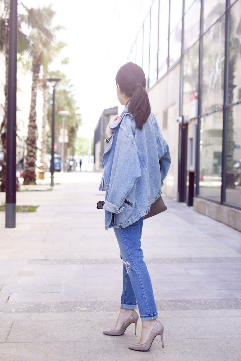 blog mode total look jean