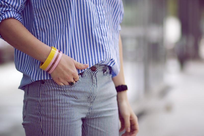 pantalon et chemise rayés boden blog mode