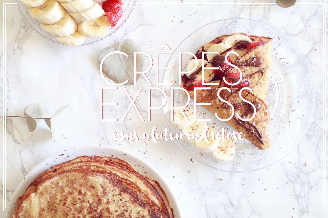 Crêpes express sans gluten et sans lactose