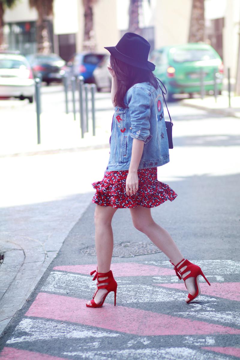 blog mode look rouge et jean