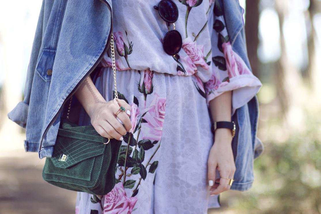 combinaison fleurs blog mode