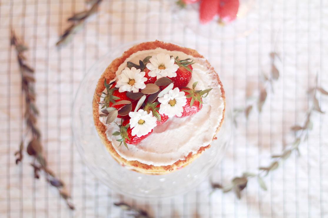 layer cake fraises coco