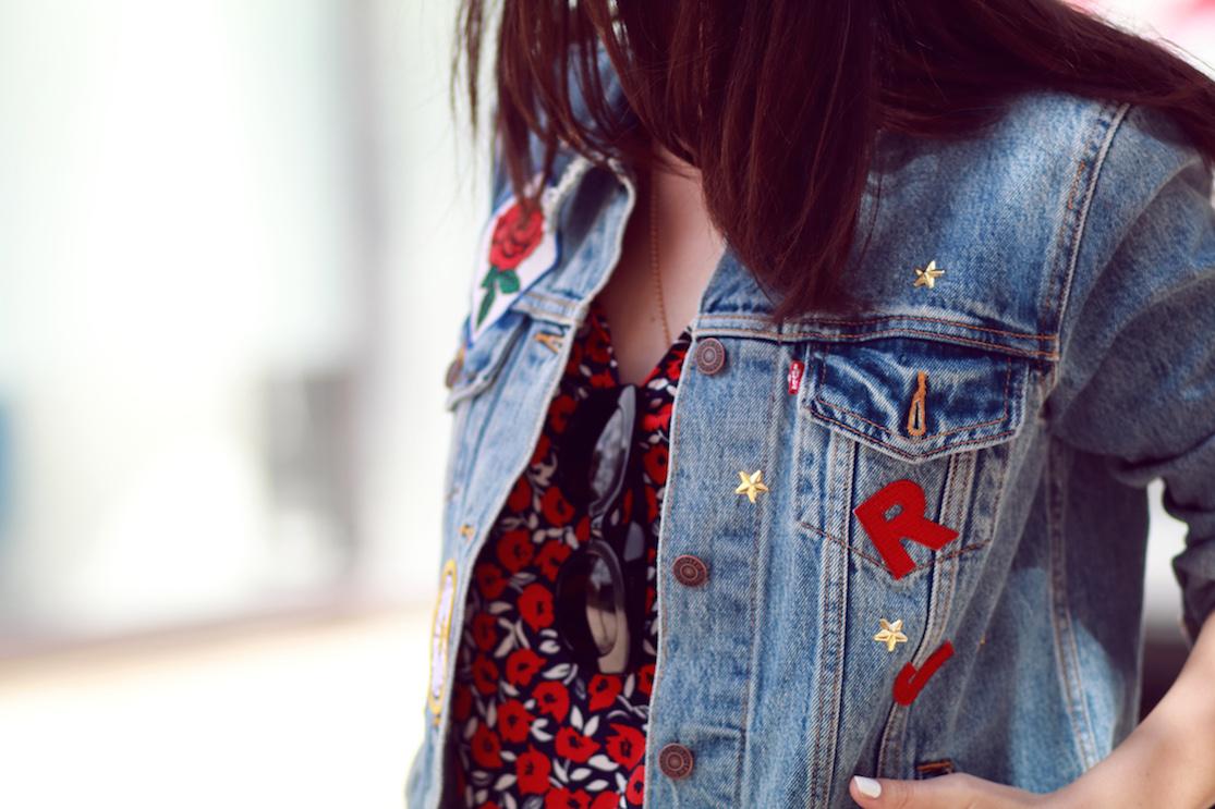 veste jean customisée