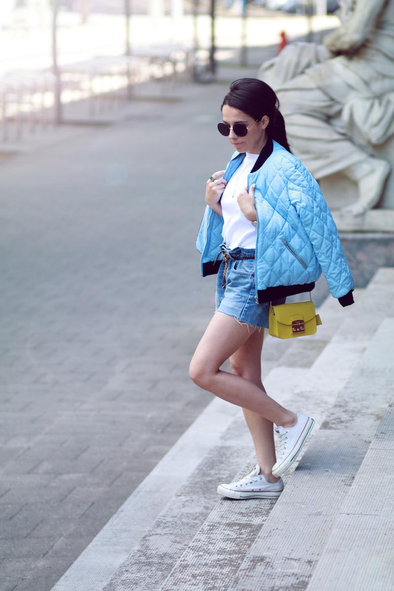 blog mode bomber bleu