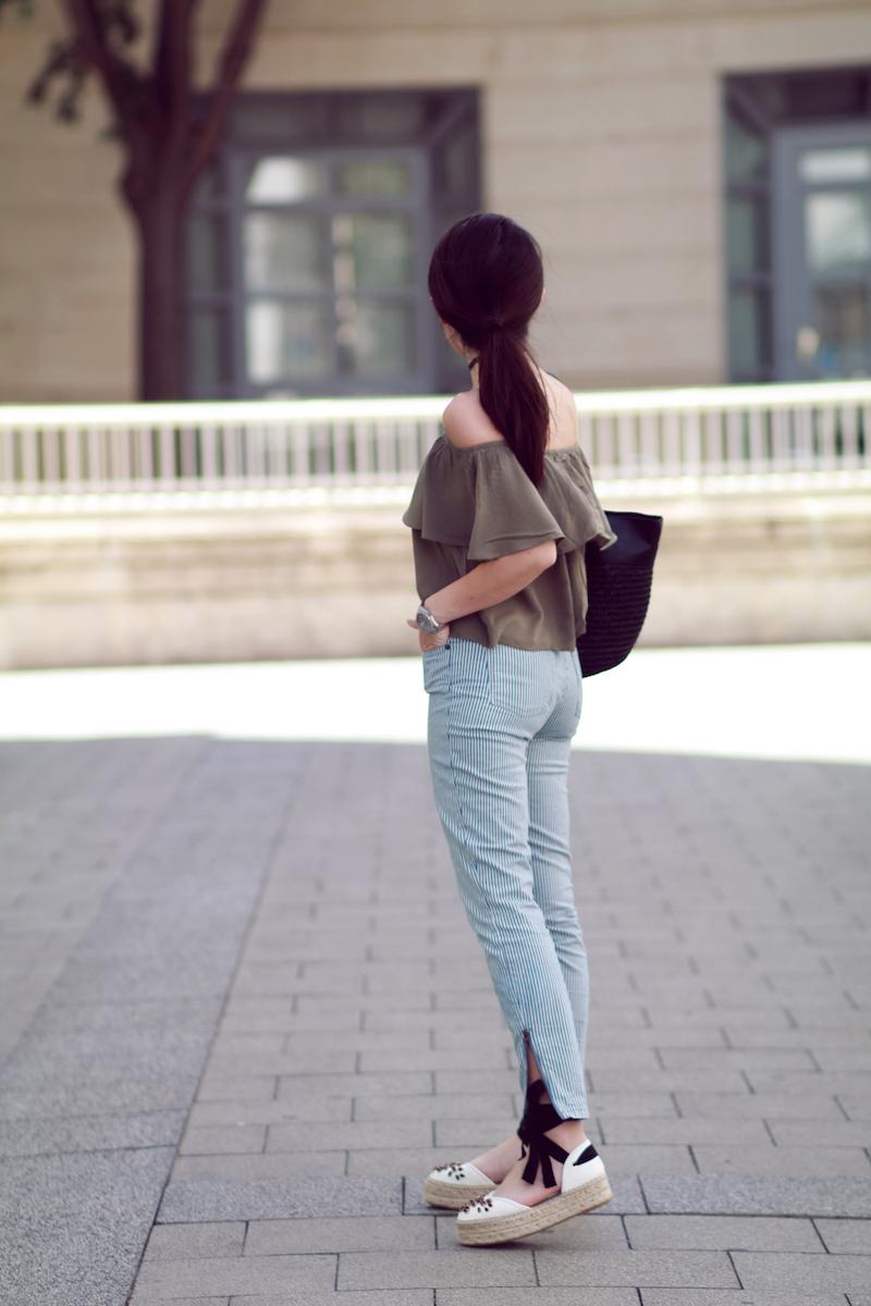 blog mode jean rayé