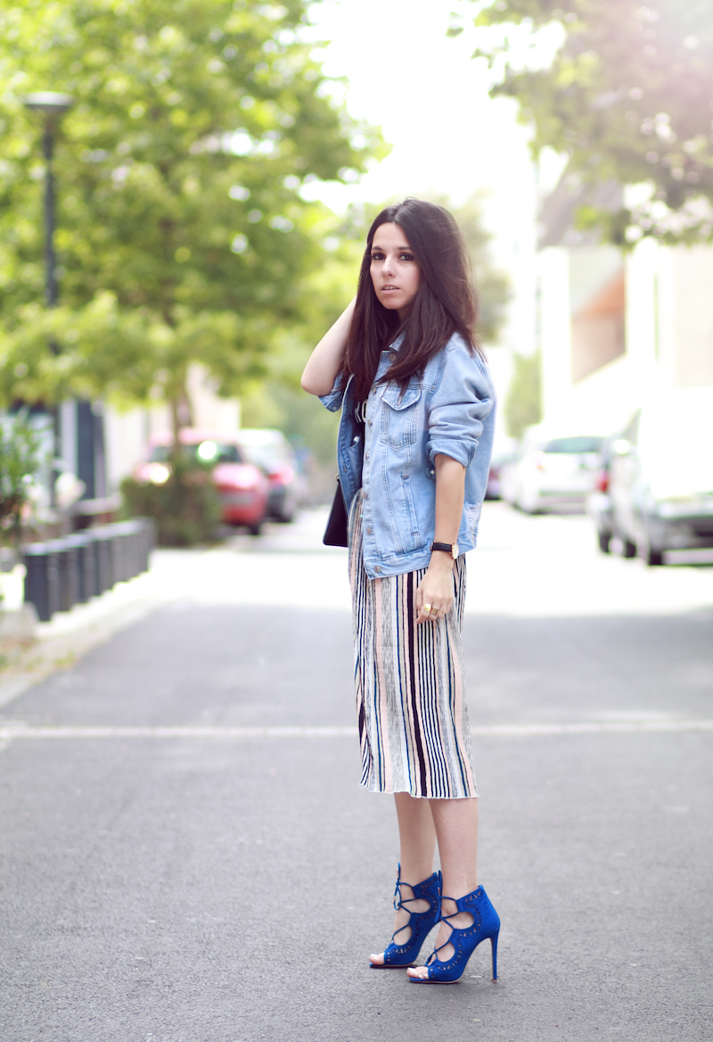 blog mode jupe rayée new look