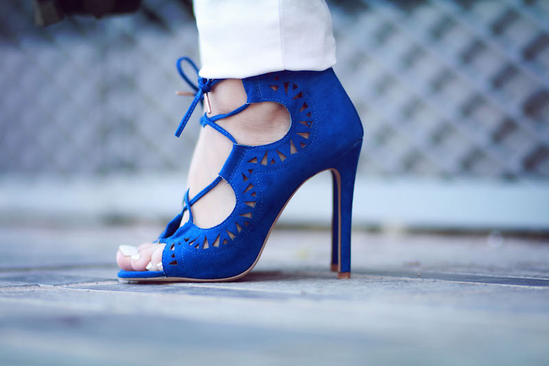 blog mode sandales talons bleues