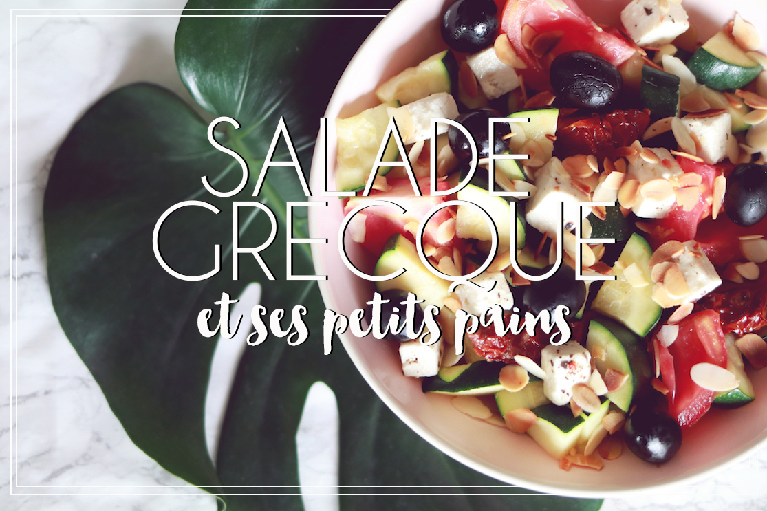 Salade grecque et ses petits pains