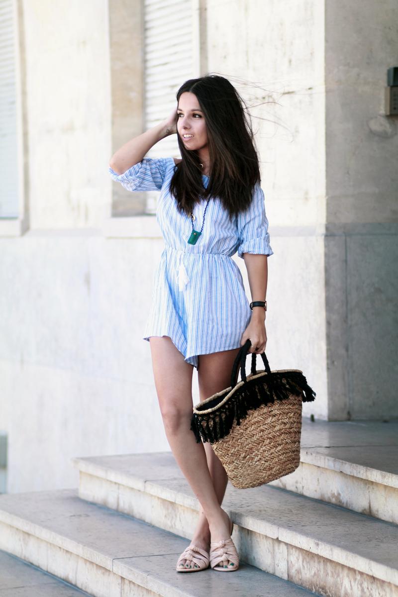 blog mode combishort rayée