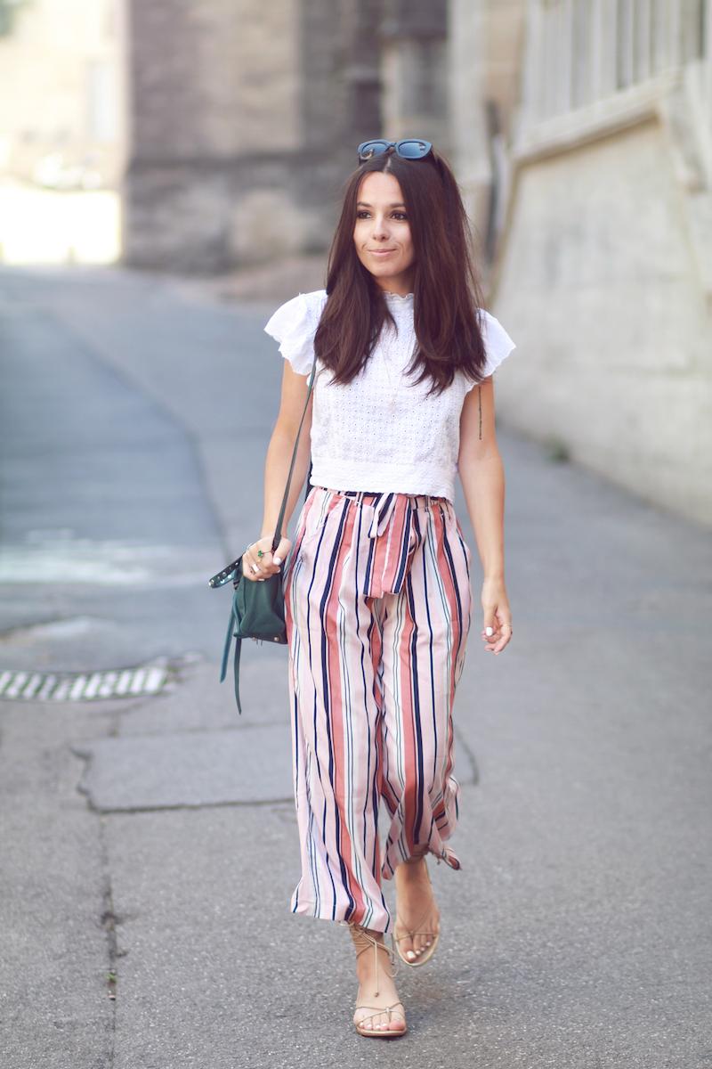 pantalon rayures été Zara