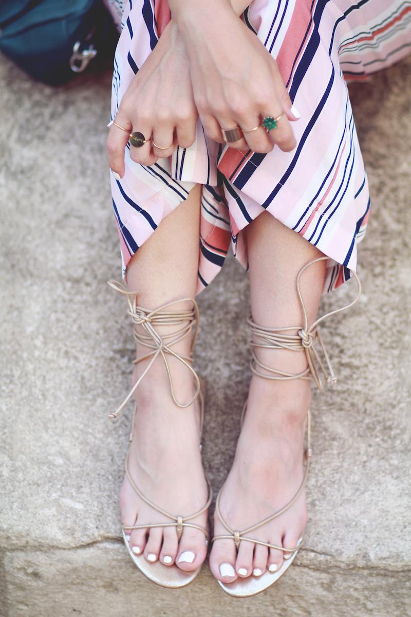 sandales lacées blog mode