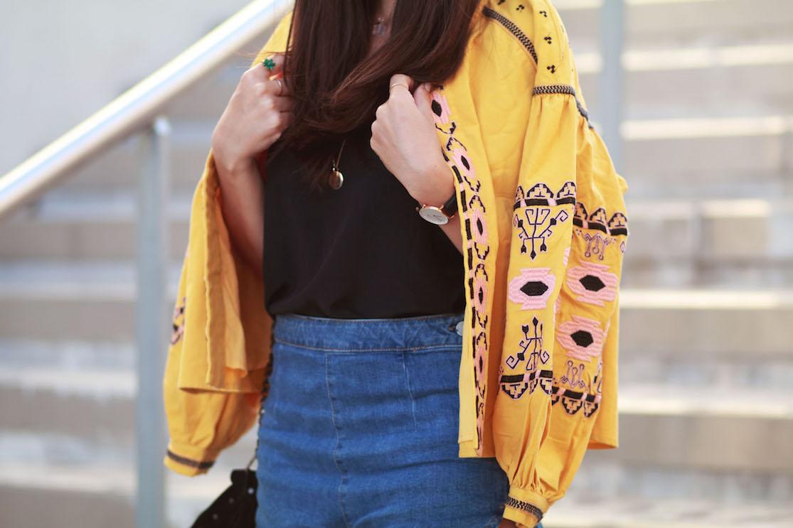 short jean taille haute