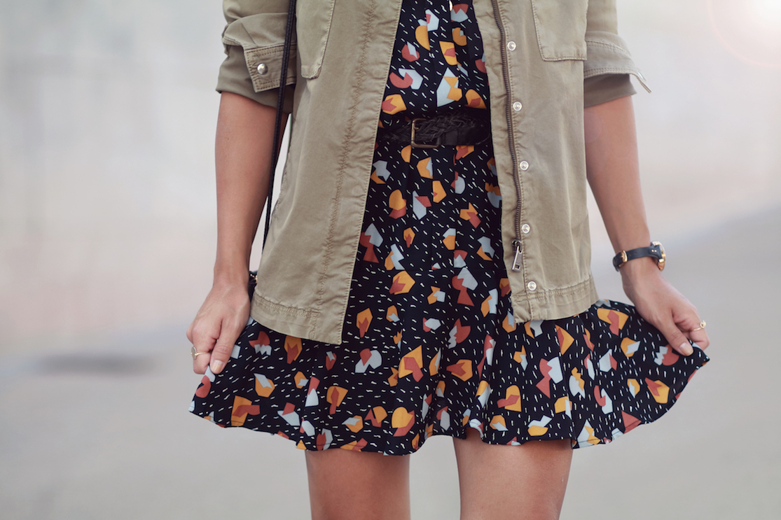 robe-courte-imprimés-colorés
