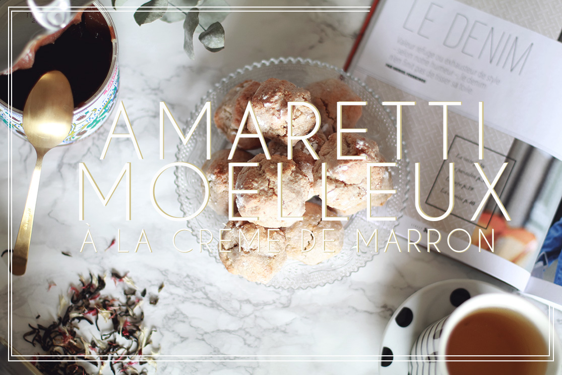 Amaretti moelleux à la crème de marron
