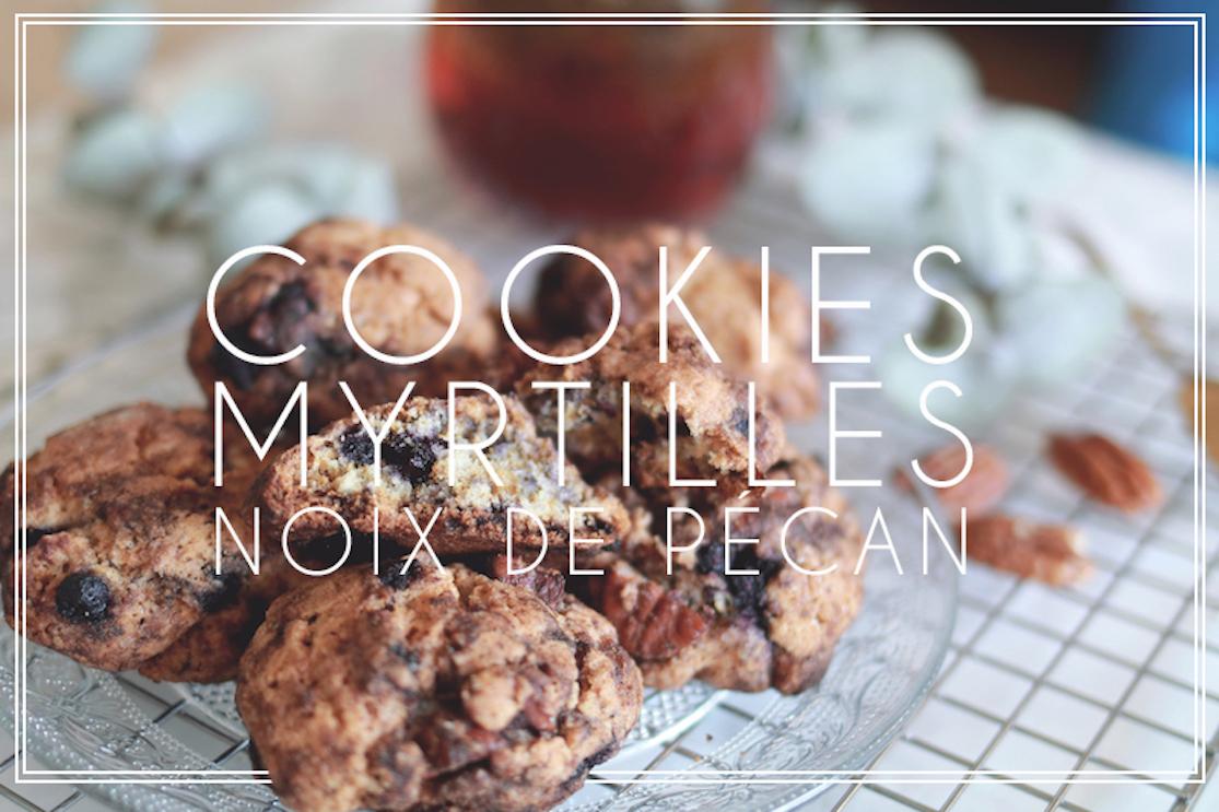 Cookies myrtilles sauvages et noix de pecan {sans gluten}