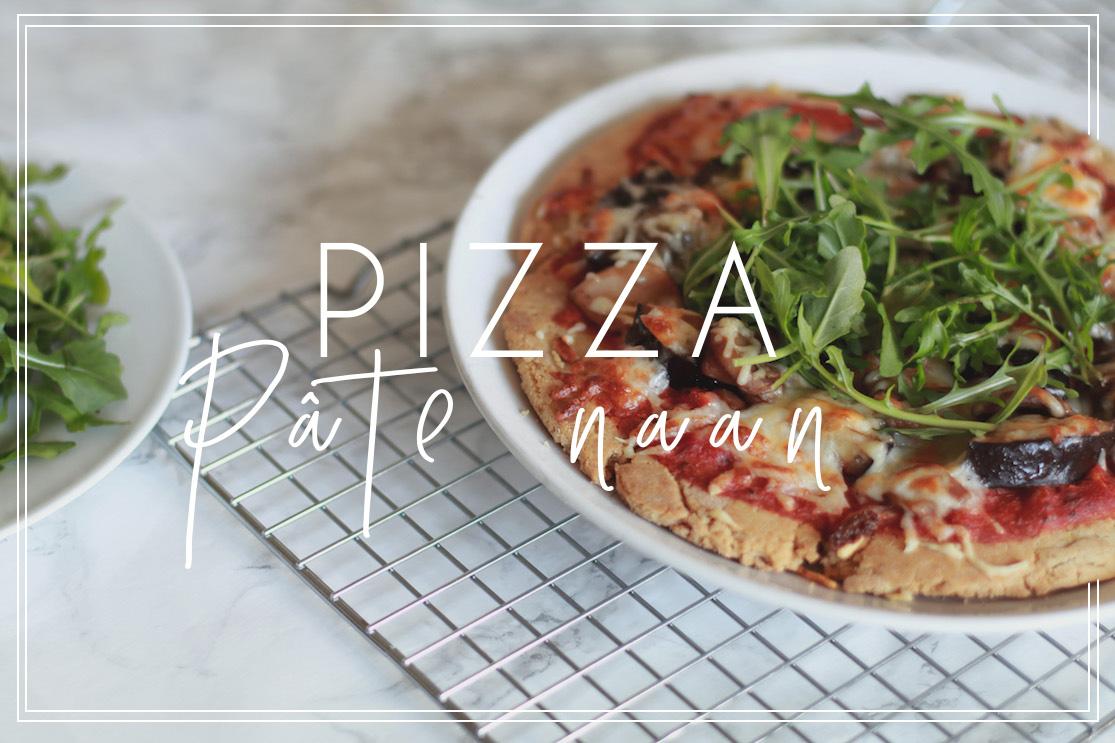 Pizza pâte naan