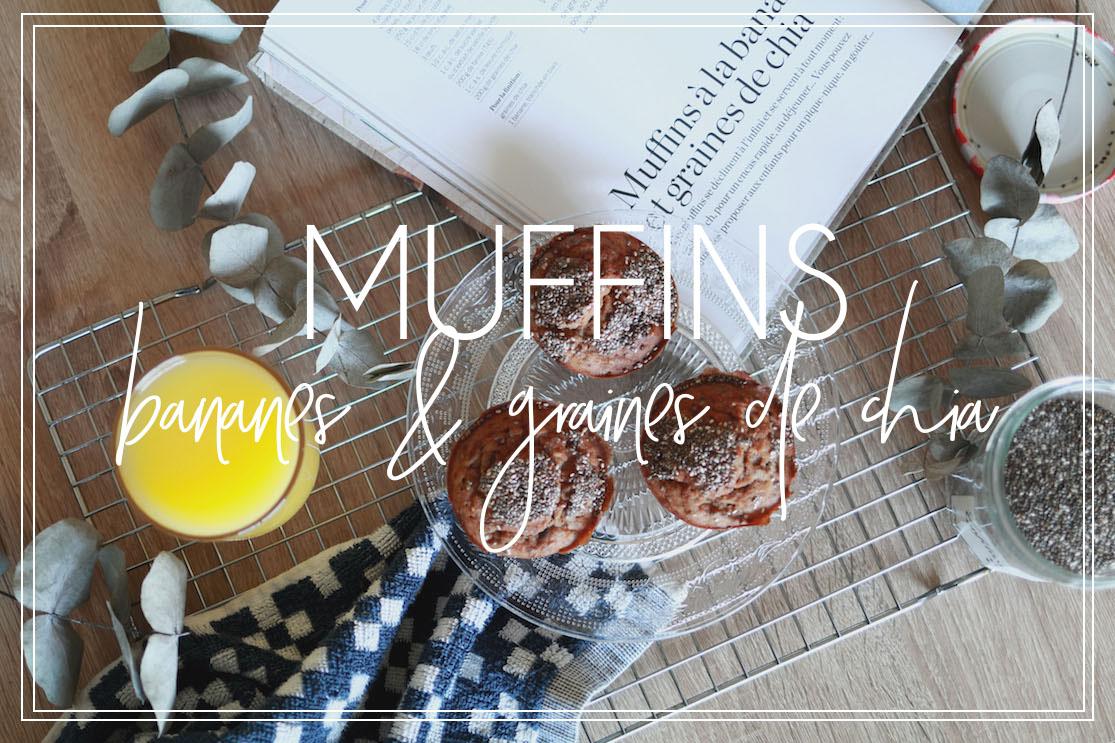 Muffins bananes & graines de chia