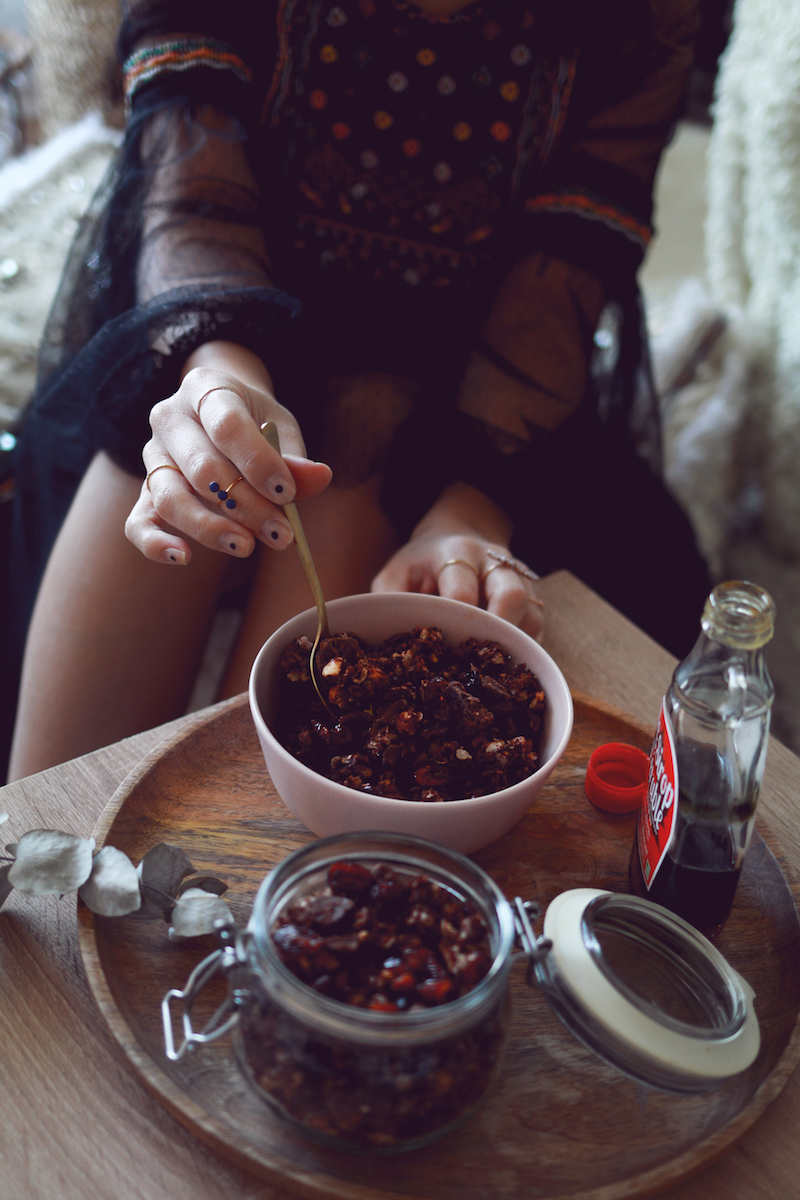 Granola chocolat cranberry sans gluten