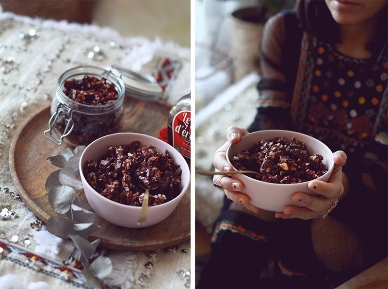 recette granola chocolat cranberry
