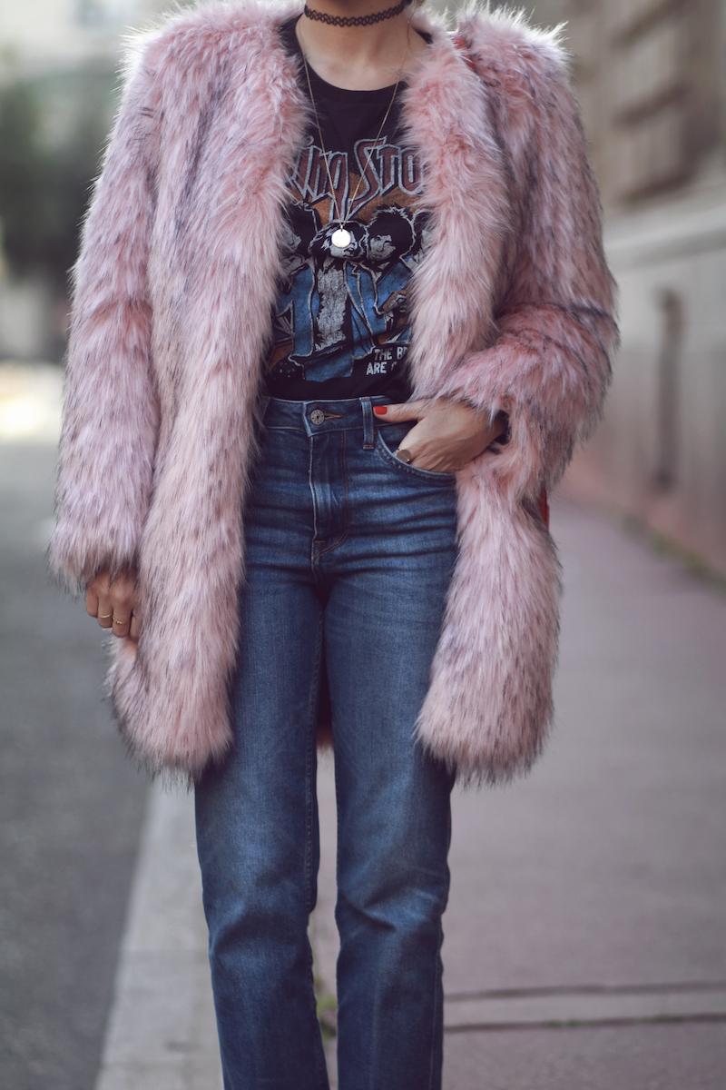 t-shirt-rock-manteau-fausse-fourrure