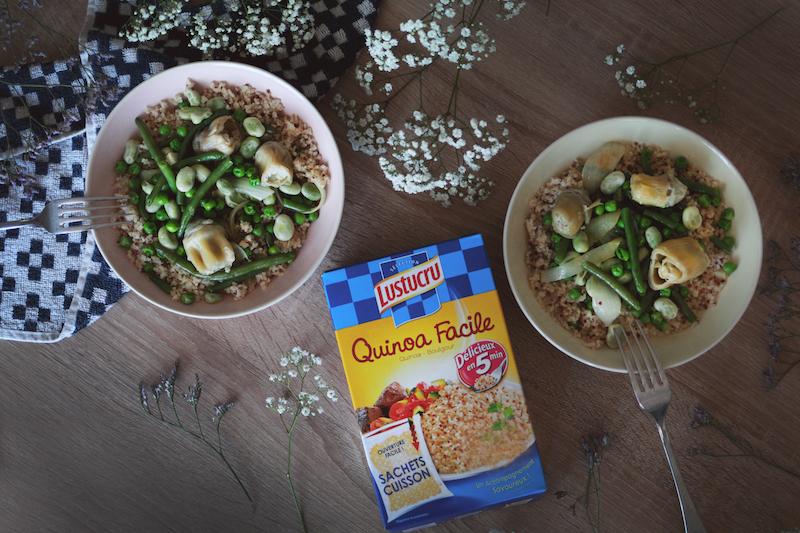 Tajine quinoa aux légumes verts de printemps