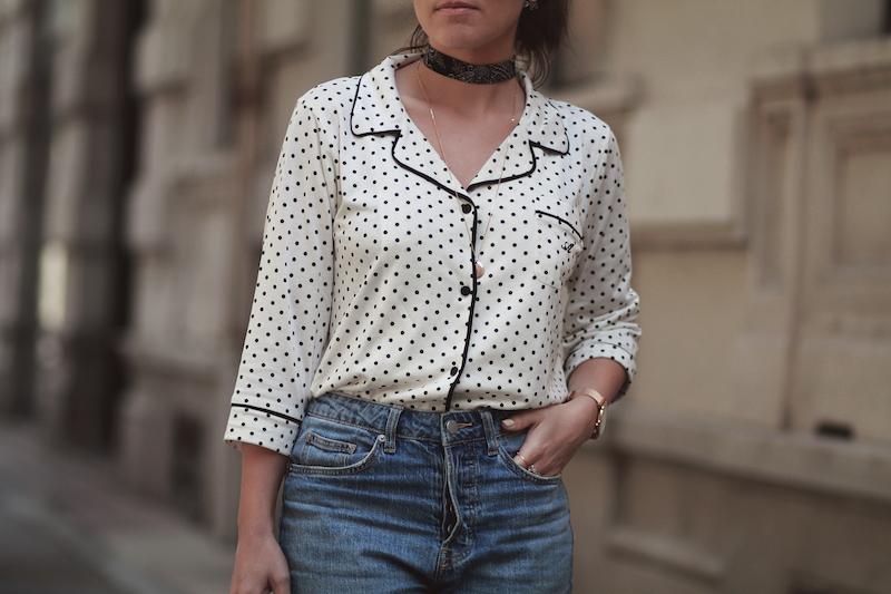 chemise-pois-style-pyjama