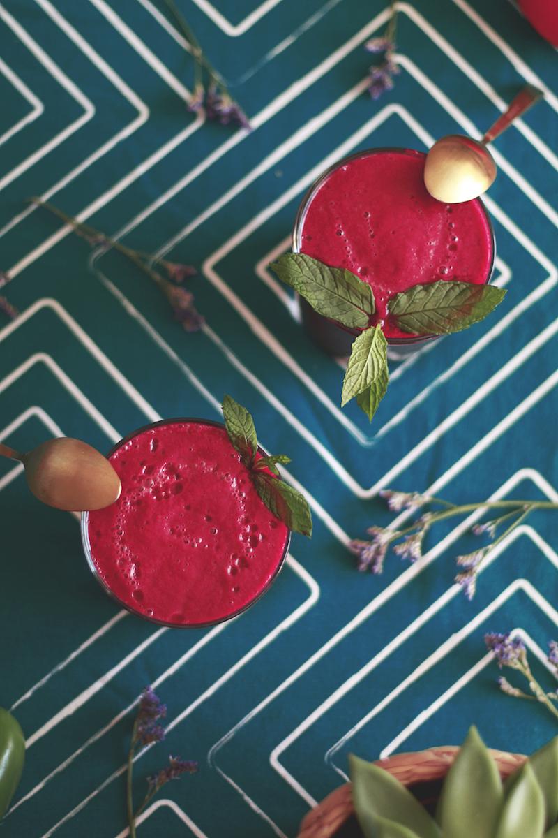 Gaspacho betterave menthe avec le SuperBlender Artisan