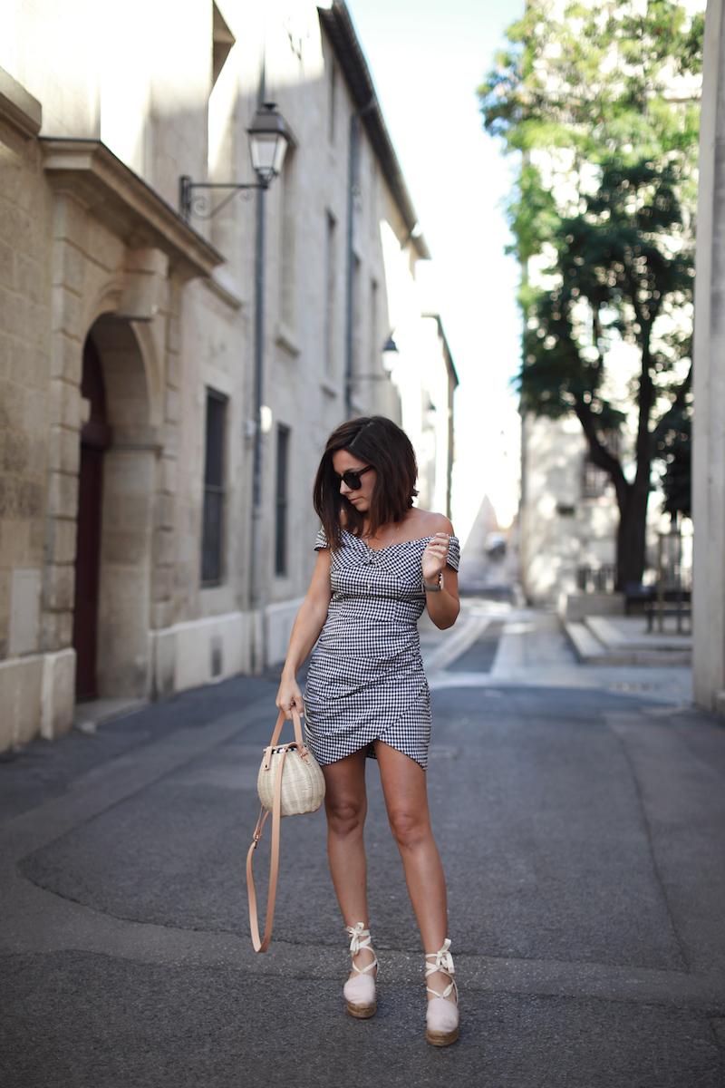La petite robe vichy bardot