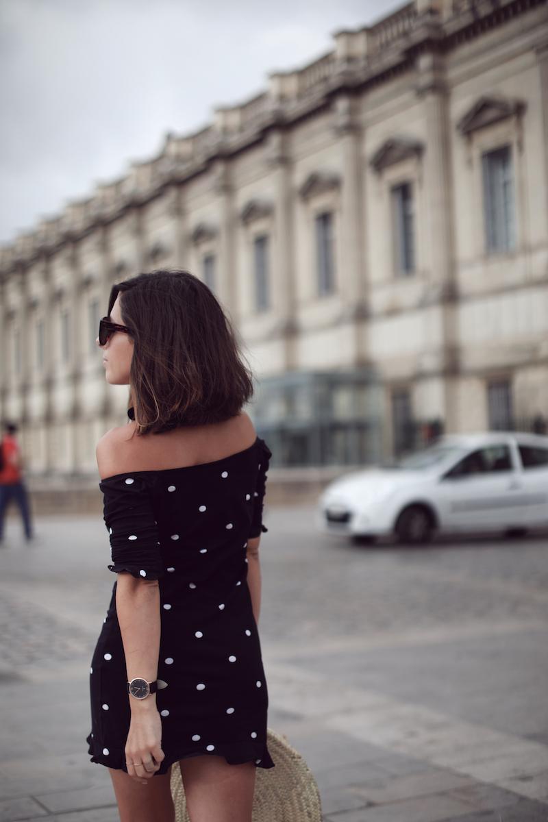 idée-tenue-robe-pois-été