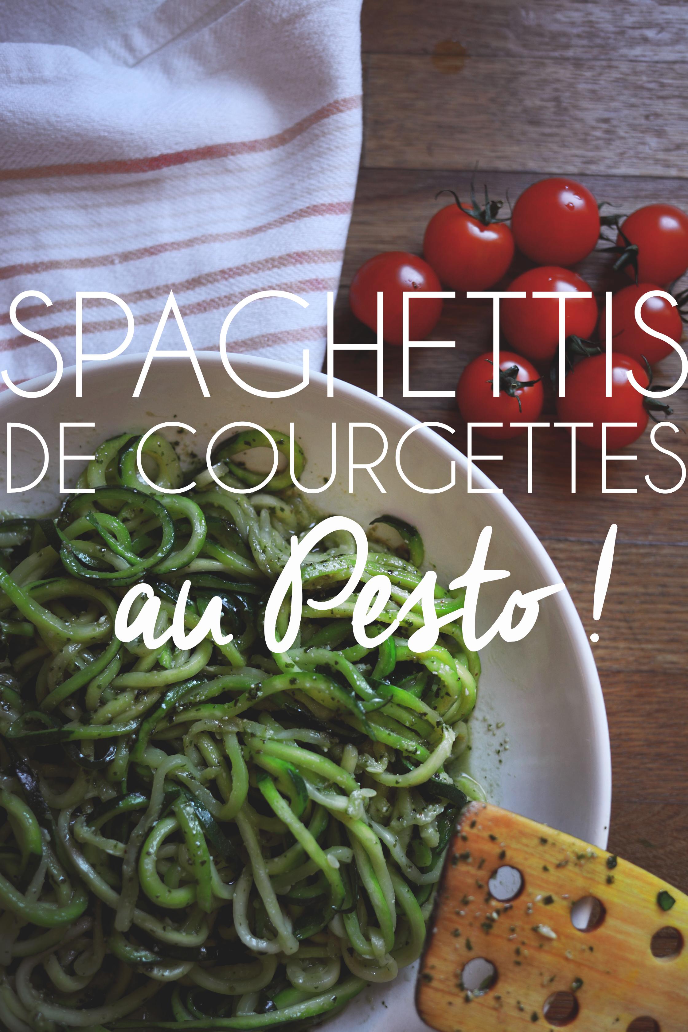 Spaghettis de courgettes au pesto avec le robot Mini de KitchenAid