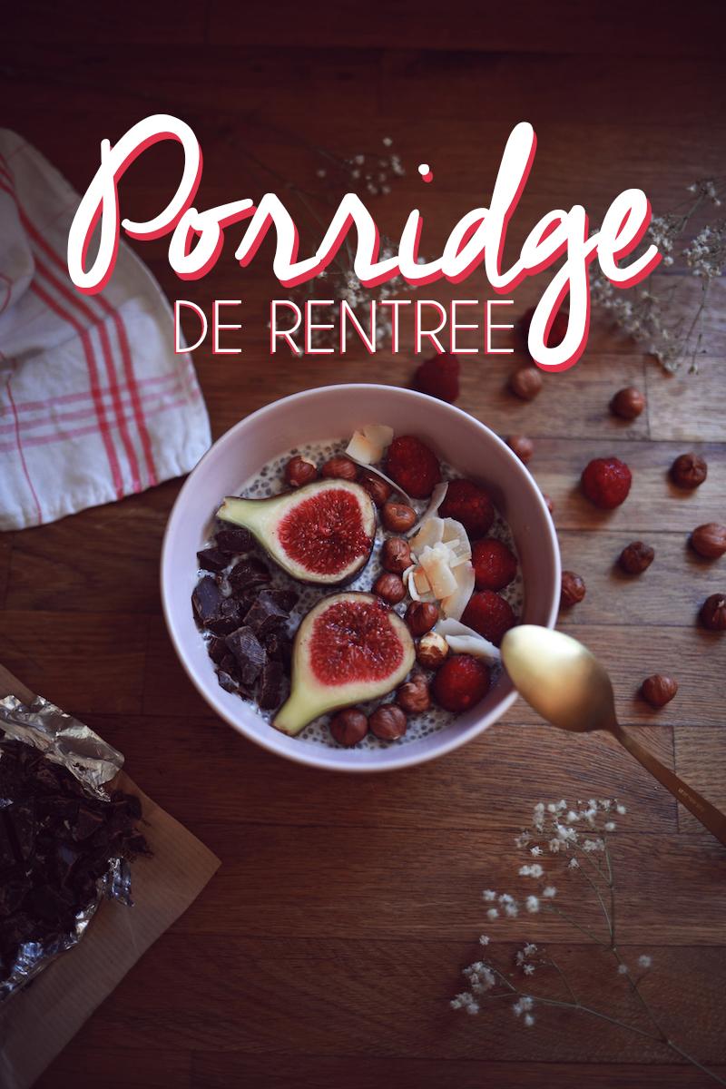 Porridge de rentrée