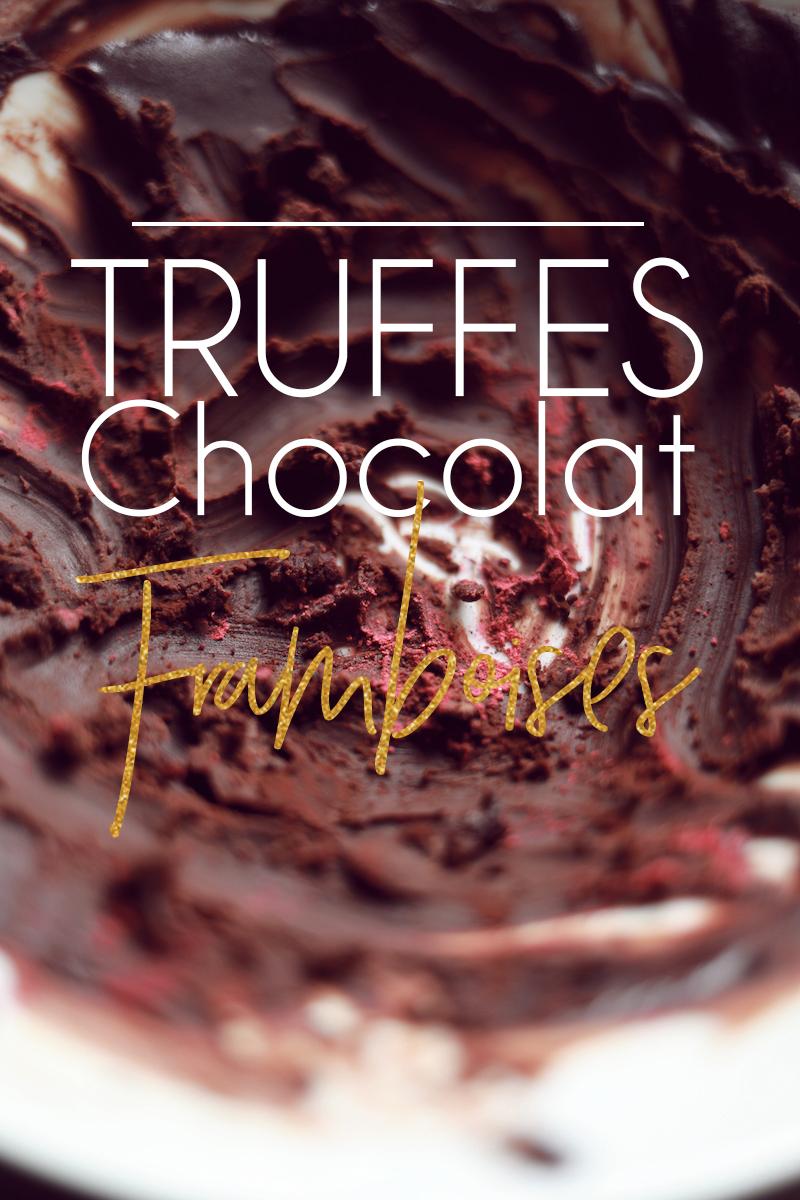 Truffes chocolat et framboises