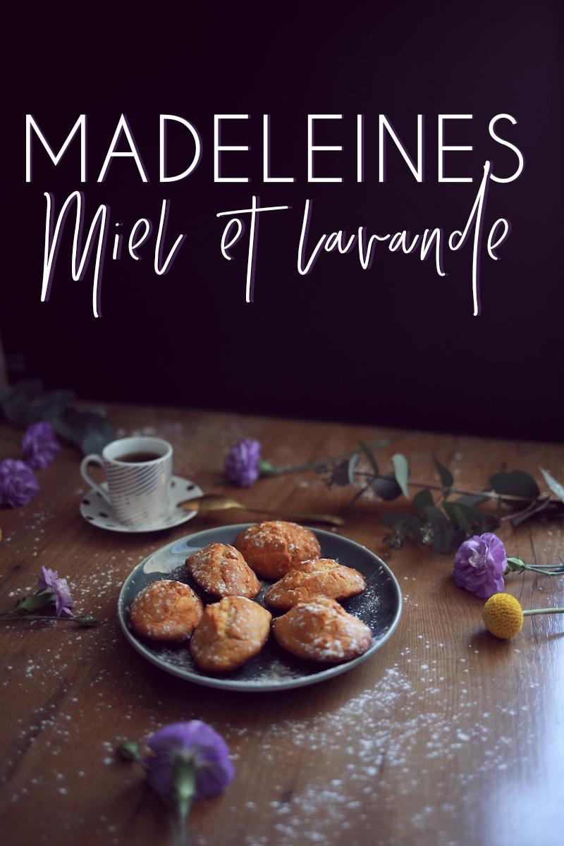 Madeleines lavande miel