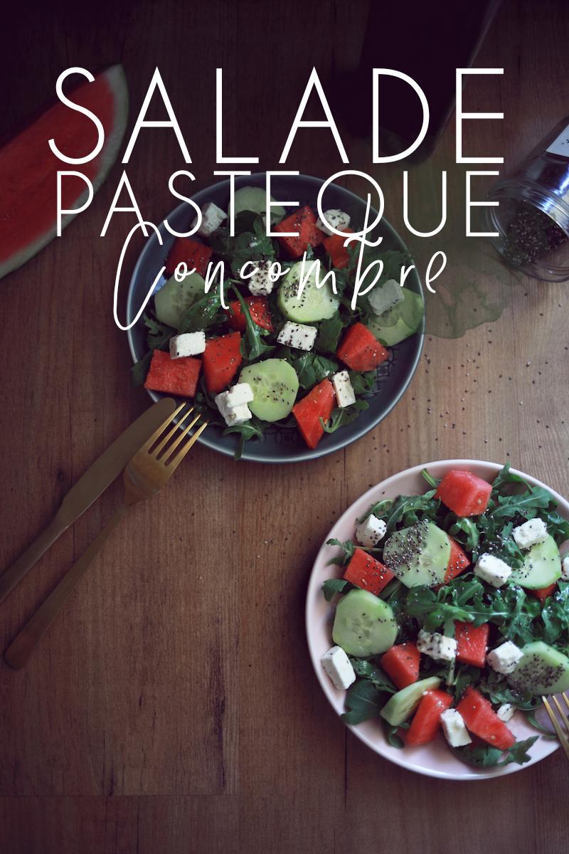 Salade pastèque & concombre