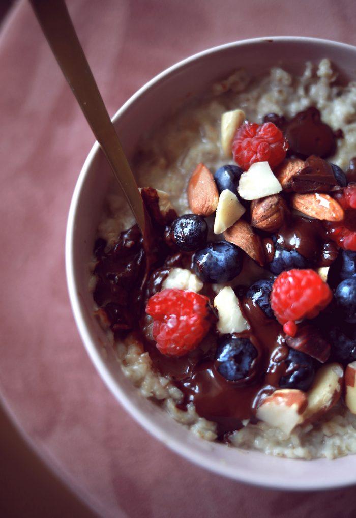 Porridge à l'avoine (sans gluten ni lactose)