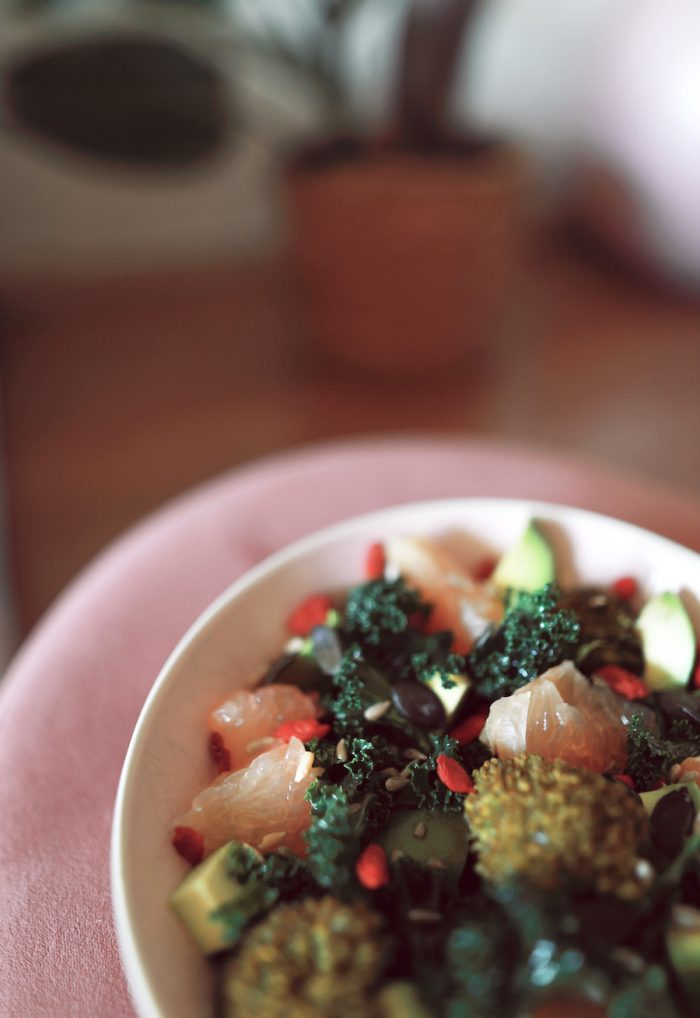 Salade chou kale